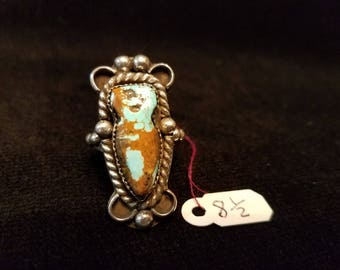 Turquoise Spirit Stone Ring size 8 1/2