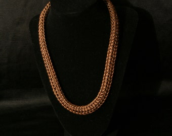 bronze roundmaille design chainmaille necklace ( chain maille chain mail chainmail ) *one of a kind*