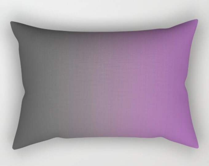 Gray to Purple Ombre Pillow Cover - Throw Pillow Cover - Includes Insert - Purple Home Decor - Sofa Pillow - Made to Order