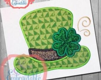 St Patrick's Day Hat with Shamrock Applique Shirt or Bodysuit Boy or Girl