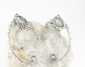 Elven Ear Cuffs - Elf Ears - Elven Ears - Wolf Earrings - Wolf Ears - Fairy Ears - Fairy Ear Cuffs - Cosplay Ears -Woodland  Elf Costume