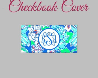 Checkbook Cover Lilly Pulitzer Inspired Monogrammed Personalized Checkbook cover