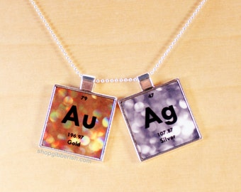 Nerd periodic table nerdy periodic table necklace periodic gold silver necklace chemistry jewelry periodic table science necklace gift idea urtaz Image collections