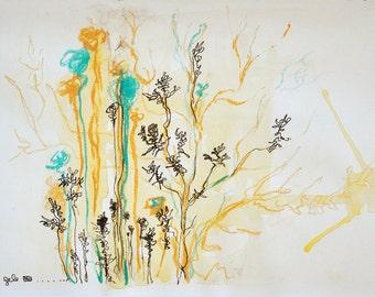 Original Abstract Sketch, Contemporary Original Study, Quick Sketch