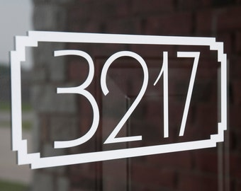 Address with Border 2 (Large) - Vinyl Decal