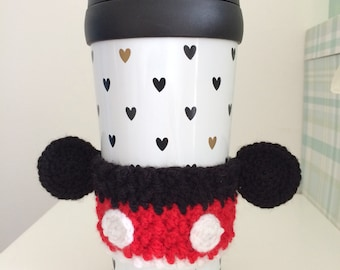 Mickey Mouse inspired cup cosy