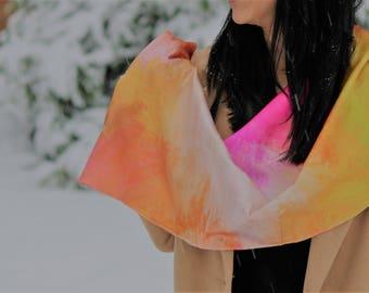 Sahara Sunset Luxury  Silk Senstation Scarf