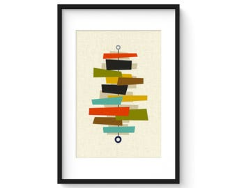 FOUNDATION - Curtis Jere, Mid Century Modern Print