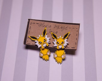 Eeveelutions Jolteon Fake Gauge Earrings