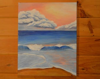 "Pastel Skies- Acrylic painting. 20x16"""