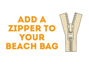 Add a Zipper to Your Beach Bag