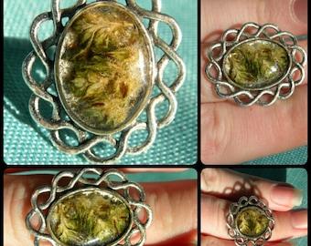 Adjustable mj flower ring