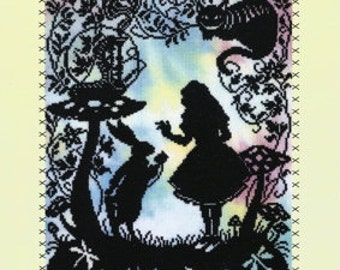 Bothy Threads Fairy Tales Alice in Wonderland Counted Cross Stitch Kit - 26x36cm