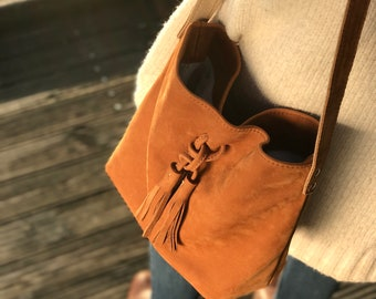 Hobo Camel M - shoulder bag - leather bag