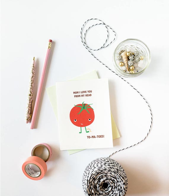 Love You Head to Tomatoes Mother's Day Card