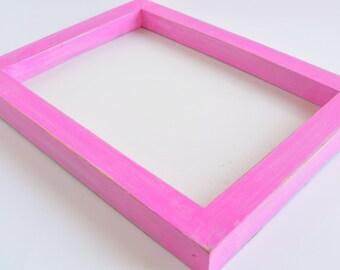 Hot Pink Framed Dry Erase Board, White Board, White Board, Office Board, Bulletin Board, Wedding Prop, Home Decor, Girls Room, Gift, Notes
