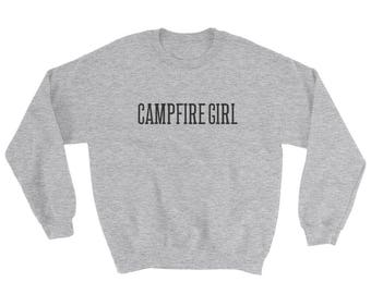 Campfire Girl Sweater - Sweater - Longsleeve Sweater - Crewneck Sweatshirt