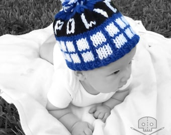 Doctor Who- Inspired Police Box Hat- Baby- Washable