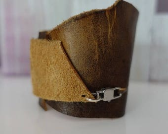 Yellowish Brown Asymmetrical Cuff