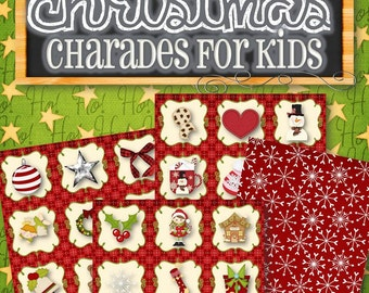 Children's Christmas Charades Game - INSTANT DOWNLOAD