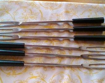 Vintage French set of 6 fondue forks