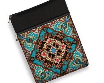 boho laptop sleeve 13 inch macbook pro 13 case Dell Inspiron case Macbook Air Samsung Notebook HP Spectre Bohemian blue orange RTS