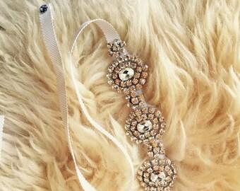 Bridal Diamond fancy Belt Sash Czech Crystal Diamond Headband Belt Flower Girl belt Dress Wedding Sash Headband on Bridesmaid sash