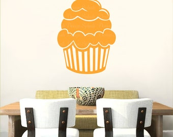 CUPCAKE Vinyl Wall Decal Home Kitchen Decor KF-104