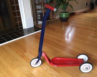 Vintage Hamilton Greyhound three wheeled Red/Blue Scooter/child's/toy
