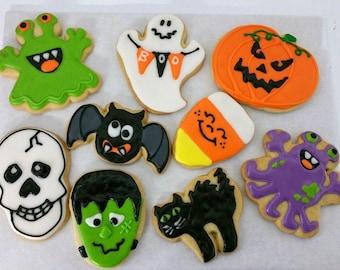 Halloween Characters, Hand Decorated Sugar Cookies