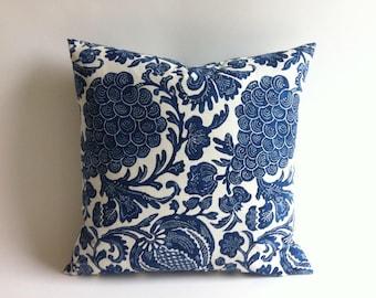 Indigo Batik Pillow Cover / Decorative Pillows /28x28 pillow cover / euro sham 28x28, 28x28 euro pillow Cover