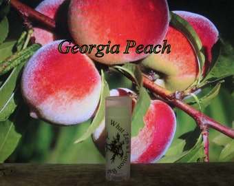 Georgia Peach Lip Balm - 31 Luscious Flavors - 100% Natural