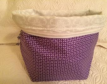 Purple Geometric - Large Project Bag