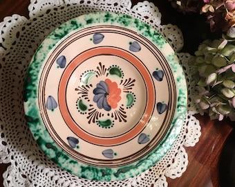 Vibrant Vintage Redware Bowl