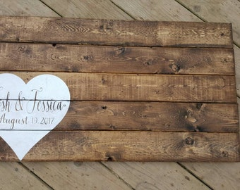 Guest Book | Wedding Decor | Wood Sign | Rustic Wedding Decor | Country Wedding Sign | Made in Canada