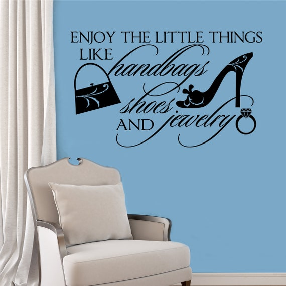 Enjoy Little Things Quote Vinyl Wall Lettering Vinyl Decals