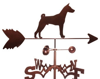 Hand Made Basenji Dog Weathervane New