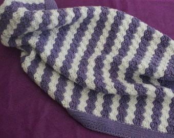 Baby Blanket Purple Baby Blanket Striped Blanket Baby Gift