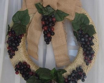 Wine Grape Wreath