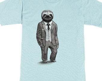 Sloth Shirt Mens Shirts Sloth T Shirt Birthday Gift Graphic Tee Funny Shirt Boyfriend Gift Brother Gift Stylish Sloth Mens Shirt