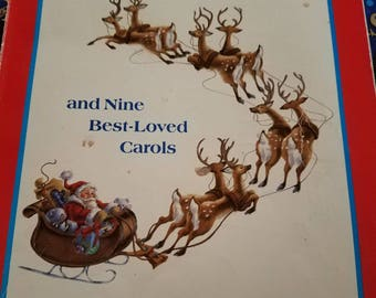 1988 The Night Before Christmas Book with 9 Favorite Carols