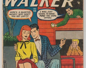 Patsy Walker, Vol 1, 65 Golden Age Romance Comic Book. VG- (3.5). July 1956. Atlas Comics (Marvel Comics).