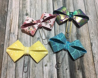Inside Out Glitter Paperclip Bow