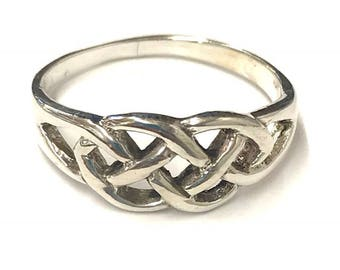 925 Sterling Silver Celtic Style Woven Band