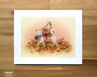 Cream Shiba Inu - Fine Art Print by Nicole Gustafsson