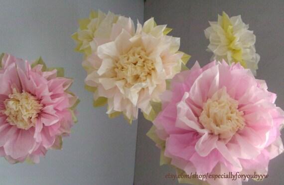 Set of 5 tissue paper pom pom flower perfect decorations mightylinksfo