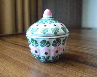 Vintage porcelain small trinket box (#EV402)