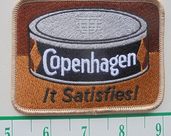 "Vintage Copenhagen""it satisfies""cloth iron-on patch"