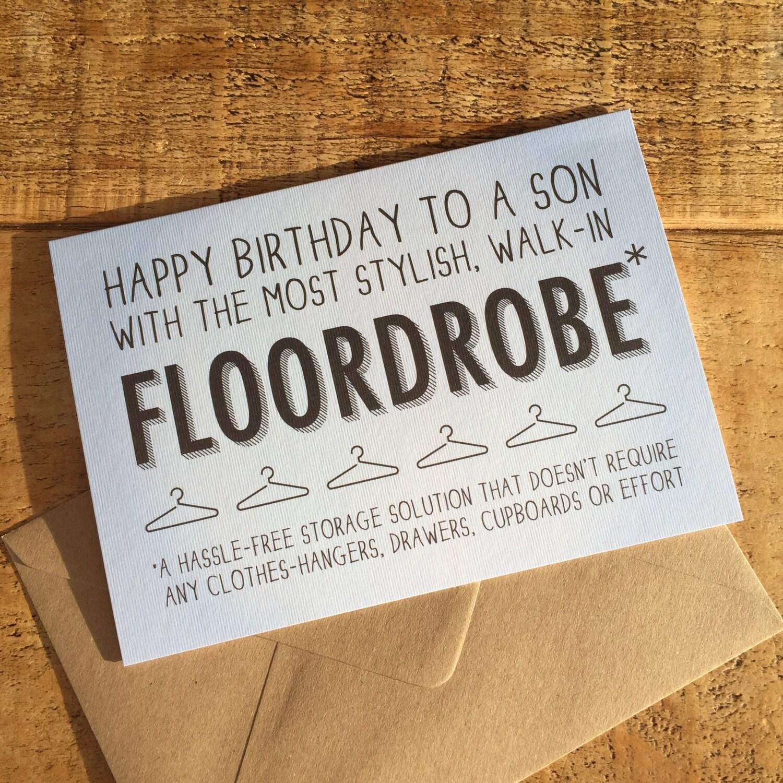 Happy Birthday Son Card Son Card Card for Teenager Son