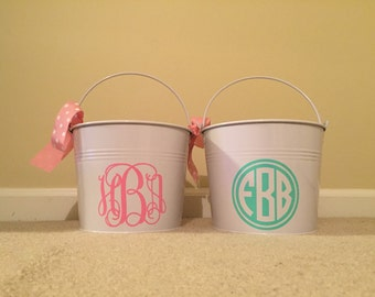 Easter basket - Easter bucket - custom personalized Easter basket bucket